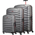 Samsonite Lite-Shock Sport Hardside Suitcase Set of 3 Eclipse Grey 05262, 05267, 05269 with FREE Samsonite Luggage Scale 34042