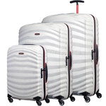 Samsonite Lite-Shock Sport Hardside Suitcase Set of 3 White 05262, 05267, 05269 with FREE Samsonite Luggage Scale 34042