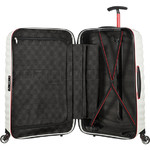 Samsonite Lite-Shock Sport Hardside Suitcase Set of 3 White 05262, 05267, 05269 with FREE Samsonite Luggage Scale 34042 - 4