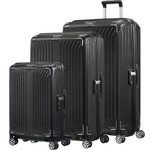 Samsonite Lite-Box Hardside Suitcase Set of 3 Black 79301, 79300, 79297 with FREE Samsonite Luggage Scale 34042
