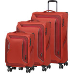 American Tourister Applite 3.0S Softside Suitcase Set of 3 Orange 91972, 91973, 91974 with FREE Samsonite Luggage Scale 34042