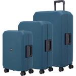 Lojel Voja Hardside Suitcase Set of 3 Ink JVO55, JVO66, JVO77 with FREE Lojel Luggage Scale OCS27