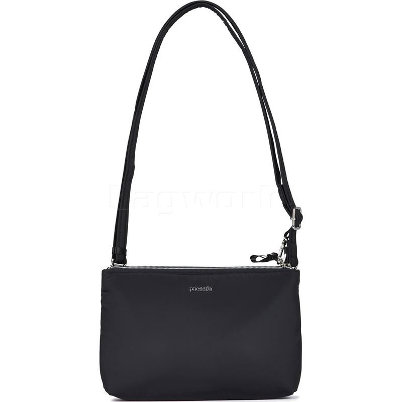5a9dd8144 Pacsafe Stylesafe Anti-Theft Tablet Double Zip Cross Body Bag Black 20630