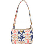Pacsafe Stylesafe Anti-Theft Tablet Double Zip Crossbody Bag Ikat Coral 20630
