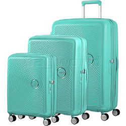 American Tourister Curio Hardside Suitcase Set of 3 Mint Green 87999, 86229, 86230 with FREE Samsonite Luggage Scale 34042