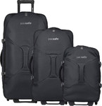 Pacsafe Venturesafe EXP Anti-Theft Wheel Duffel Set of 3 Black 50165, 50185, 50205 with FREE Go Travel Luggage Scale G2006