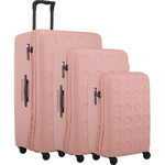 Lojel Vita Hardside Suitcase Set of 3 Rose Pink JVI55, JVI70, JVI80 with FREE Lojel Luggage Scale OCS27