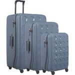 Lojel Vita Hardside Suitcase Set of 3 Steel Blue JVI55, JVI70, JVI80 with FREE Lojel Luggage Scale OCS27