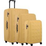 Lojel Vita Hardside Suitcase Set of 3 Yellow Ochre JVI55, JVI70, JVI80 with FREE Lojel Luggage Scale OCS27