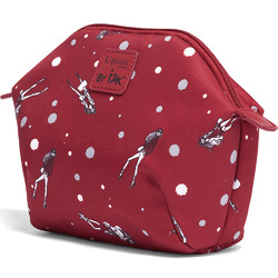 Lipault X Izak Zenou Cosmetic Pouch Garnet Red 21938