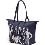 Lipault X Izak Zenou Medium Tote Bag Night Blue 21944