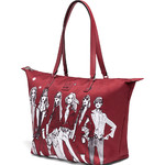Lipault X Izak Zenou Medium Tote Bag Garnet Red 21944