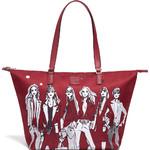 Lipault X Izak Zenou Medium Tote Bag Garnet Red 21944 - 2