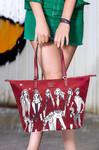 Lipault X Izak Zenou Medium Tote Bag Garnet Red 21944 - 4
