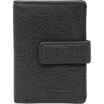 Vault Ladies' PU RFID Blocking Tabbed Credit Card Holder Black W1015
