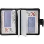 Vault Ladies' PU RFID Blocking Tabbed Credit Card Holder Black W1015 - 2