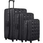 Lojel Vita Hardside Suitcase Set of 3 Black JVI55, JVI70, JVI80 with FREE Lojel Luggage Scale OCS27