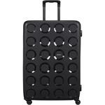 Lojel Vita Hardside Suitcase Set of 3 Black JVI55, JVI70, JVI80 with FREE Lojel Luggage Scale OCS27 - 3