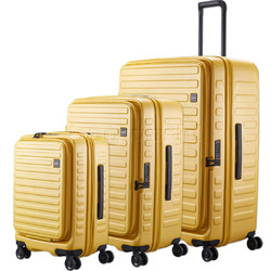 Lojel Cubo Hardside Suitcase Set of 3 Mustard Yellow JCU55, JCU65, JCU78 with FREE Lojel Luggage Scale OCS27
