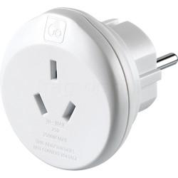 GO Travel Adaptor Plug Australia to EU White GO561