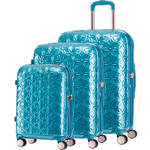Samsonite Theoni Hardside Suitcase Set of 3 Turquoise 10436, 10435, 10433 with FREE Samsonite Luggage Scale 34042