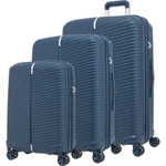 Samsonite Varro Hardside Suitcase Set of 3 Peacock Blue 12419, 12420, 21166 with FREE Samsonite Luggage Scale 34042