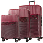 Samsonite Red Robo 2 Hardside Suitcase Set of 3 Red 25316, 25315, 25314 with FREE Samsonite Luggage Scale 34042