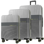 Samsonite Red Robo 2 Hardside Suitcase Set of 3 Silver 25316, 25315, 25314 with FREE Samsonite Luggage Scale 34042