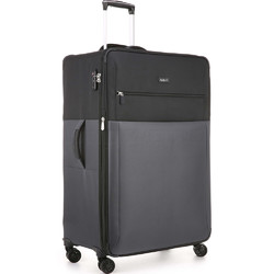 Antler Haze Large 81cm Softside Suitcase Black 45315