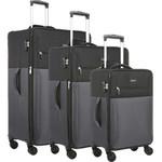 Antler Haze Softside Suitcase Set of 3 Black 45315, 45316, 45326 with FREE GO Travel Luggage Scale G2006