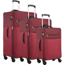 Antler Haze Softside Suitcase Set of 3 Burgundy 45315, 45316, 45326 with FREE GO Travel Luggage Scale G2006