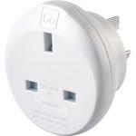 Adaptateur de voyage GO Plug UK vers Australie blanc GO528
