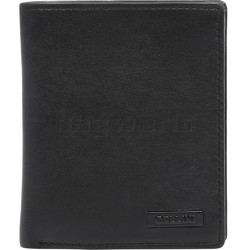 Cellini Men's Shelby RFID Blocking Flap Leather Wallet Black MH200