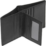 Cellini Men's Shelby RFID Blocking Flap Leather Wallet Black MH200 - 4