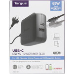 Targus Power 65W USB-C Wall Charger with Qualcomm Quick Charge Black PA104 - 6