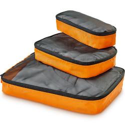 GO Travel Packing Cubes Triple Pack Orange GO286