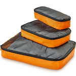 GO Travel Packing Cubes Triple Pack Orange GO286