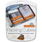 GO Travel Packing Cubes Triple Pack Orange GO286 - 5