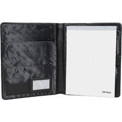 Artex Work Capsule A4 Leather Folder Black 40361