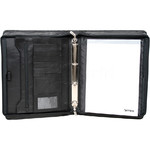 Artex Top Gun A4 Leather Ziparound Compendium with Binder Black 40365