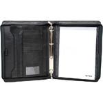Artex Top Gun A4 Leather Ziparound Compendium with Binder Black 40365