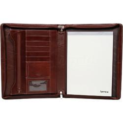 Artex Business Buddy A4 Leather Ziparound Compendium Brown 40366