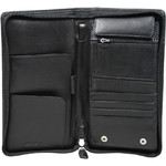 Artex Top Flight Leather Passport Wallet Black 40814 - 2