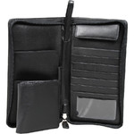 Artex Top Flight Leather Passport Wallet Black 40814 - 3