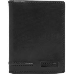 Cellini Men's Viper RFID Blocking Stitch Leather Wallet Black MH210