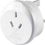 GO Travel Adaptor Plug Australia to UK White GO560