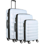 Antler Juno Camber Hardside Suitcase Set of 3 Light Blue 46015, 46016, 46058 With FREE GO Travel Scale G2006