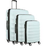 Antler Juno Camber Hardside Suitcase Set of 3 Green 46015, 46016, 46058 With FREE GO Travel Scale G2006