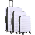 Antler Juno Camber Hardside Suitcase Set of 3 Lilac 46015, 46016, 46058 With FREE GO Travel Scale G2006