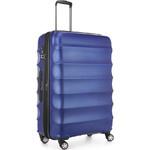 Antler Juno Metallic DLX Large 79cm Hardside Suitcase Blue 71015